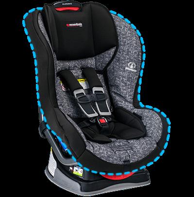 essentials by britax allegiance convertible car seat azul. Black Bedroom Furniture Sets. Home Design Ideas