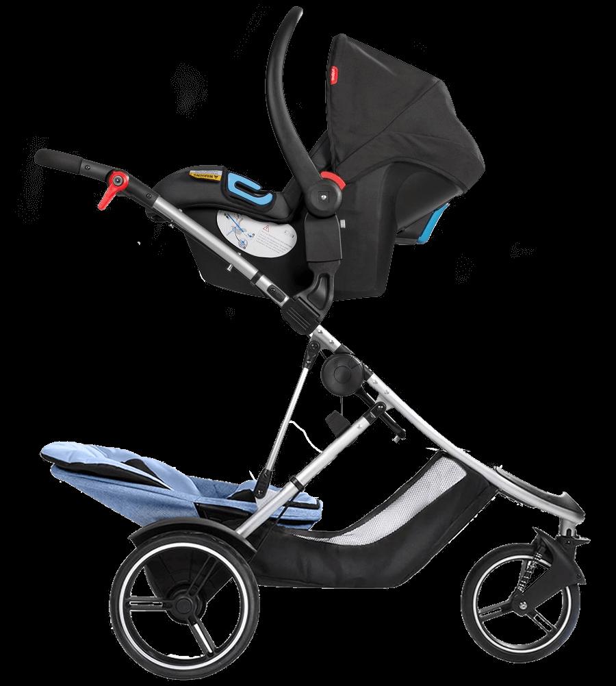 phil teds dash double stroller blue. Black Bedroom Furniture Sets. Home Design Ideas