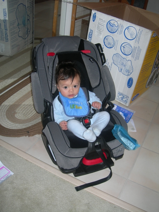 My 6 Months Old Little Man Is 20Lbs And 28inches Long Fits Really Good In This Carseat The Padding Are Great Its A Deal Toono Complain At All