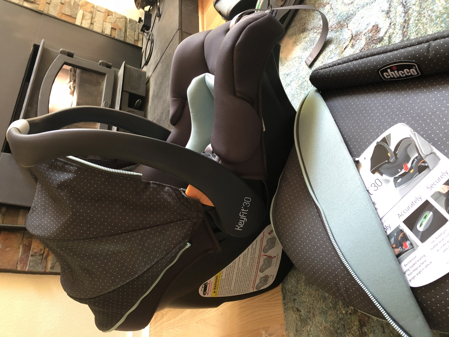Chicco Keyfit 30 Zip Infant Car Seat 2018 Eclipse