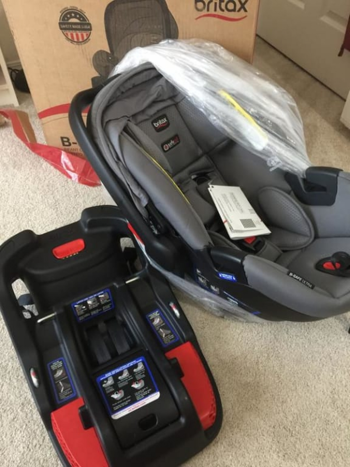 Britax B Safe Ultra Infant Car Seat Cool Flow Gray