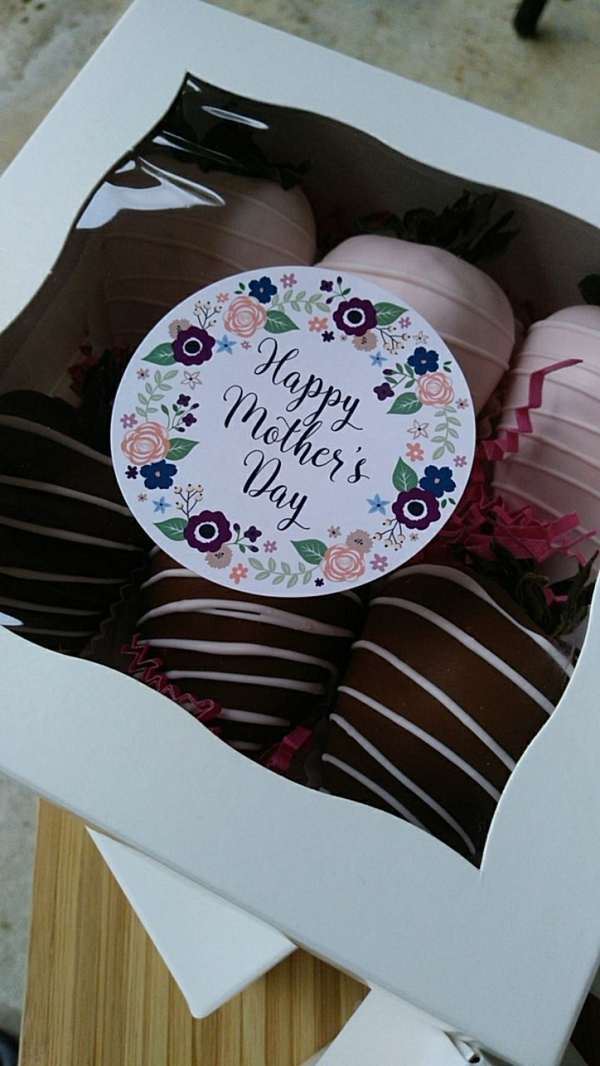 3798 2 1 2 Quot Mother S Day Flowers Favor Label 50 Count