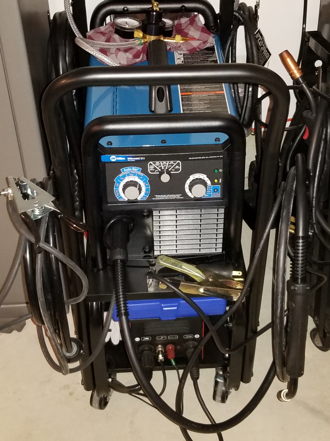 Millermatic 211 Mig Welder With Advanced Auto Set 907614 Race Car Wiring Is A Great It Welds Perfectly The Settings Are Excellent For And This Best I Have Ever Owned Its Cadillac