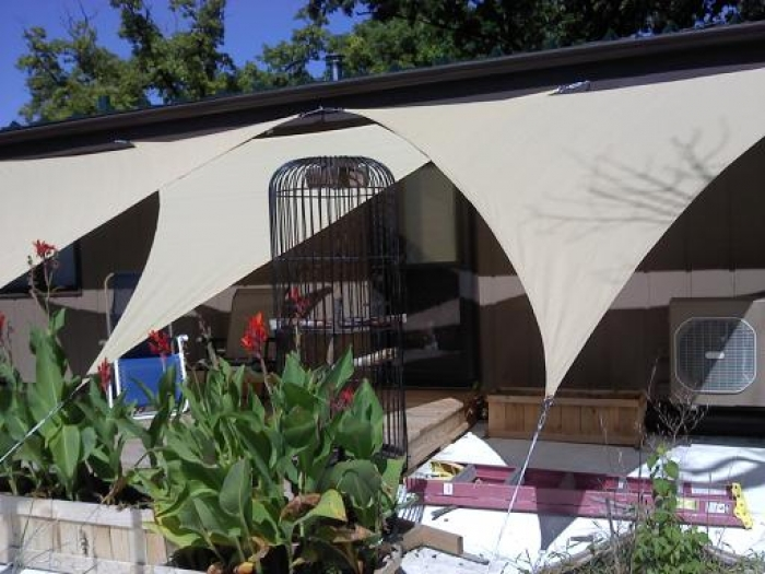 I would recommend this item to a friend. & 12 Foot ShelterLogic Triangular Shade Sail - Sand - 160 gsm