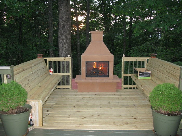 Mirage Stone Open Face Outdoor Woodburning Fireplace with Adjustable BBQ Rack This unique outdoor fireplace uses strong