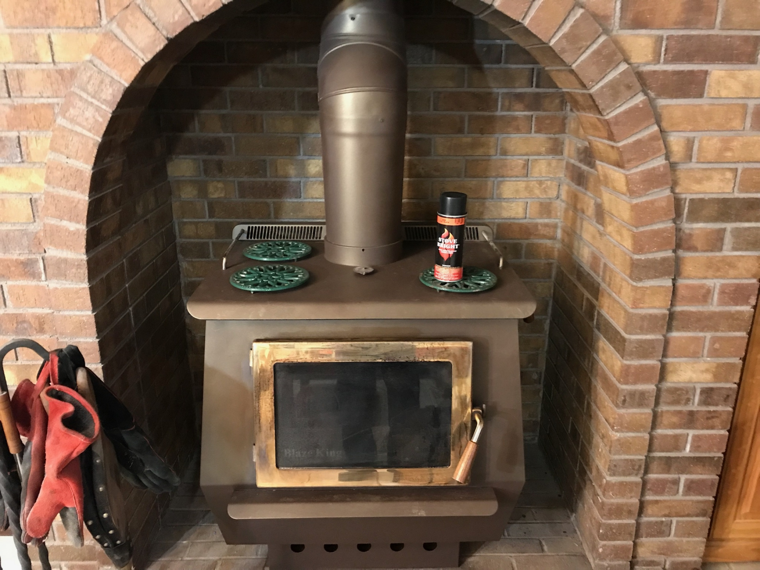 Honey Glo Brown Stovebright Stove Paint