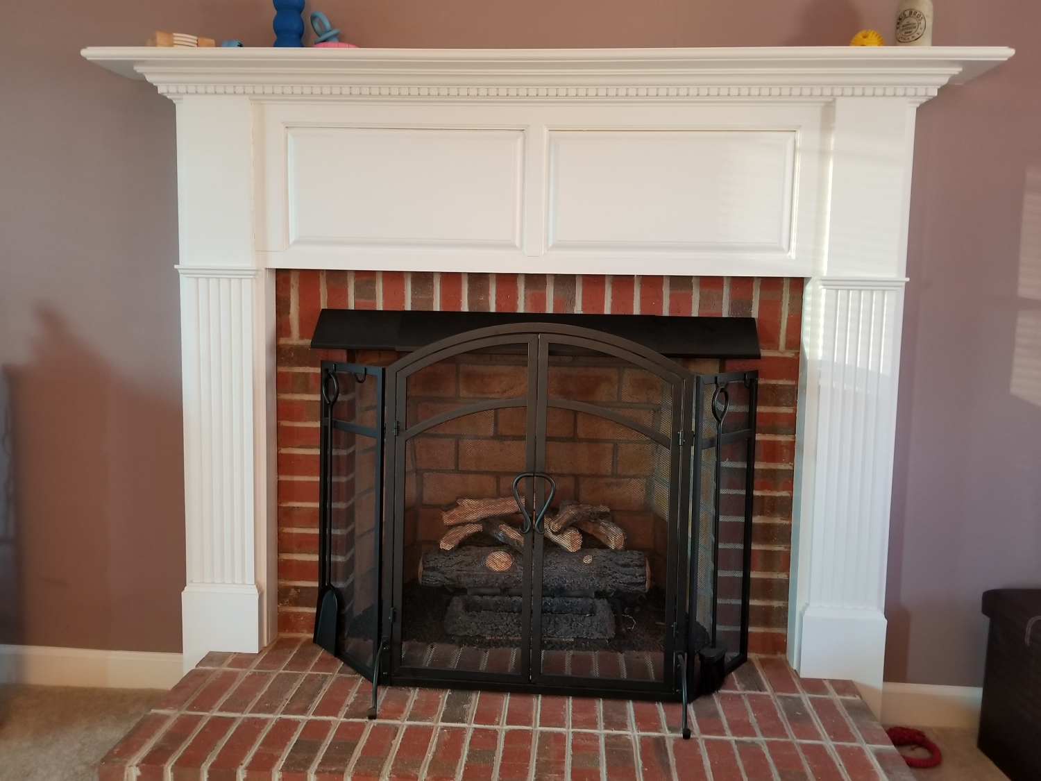 Our Non Vent Gas Logs Were Making Mantel And Wall Above Fireplace Very Hot Did Research Found E Options