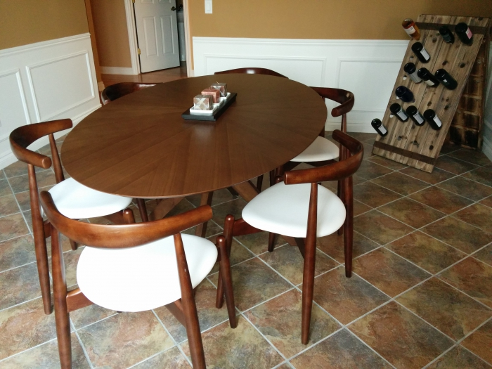 Starburst Oval Dining Table - Long oval dining table