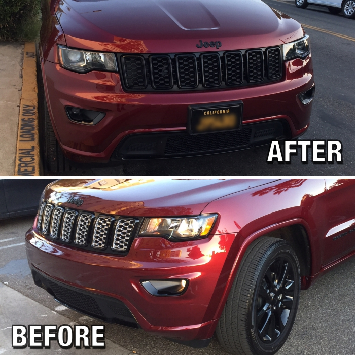 Mopar Black Honeycomb Grill Inserts for 2017-2020 Grand ...