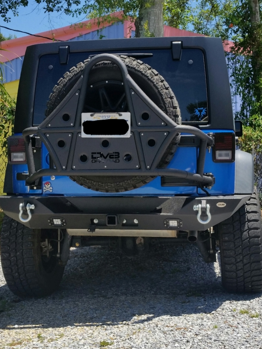 Dv8 Tc 1 Body Mounted Tire Carrier Tcsttb 01