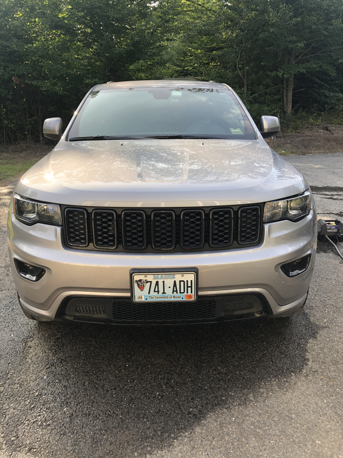 Black Honeycomb Grill Inserts Grand Cherokee 2017 2018 68317863aa New Jeep That Looks Like Rober Fit Great On My Altitude Only Difficult Part Was Removing The Bumper