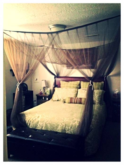 Four Point Canopy Brown Brown Canopy Bed Netting