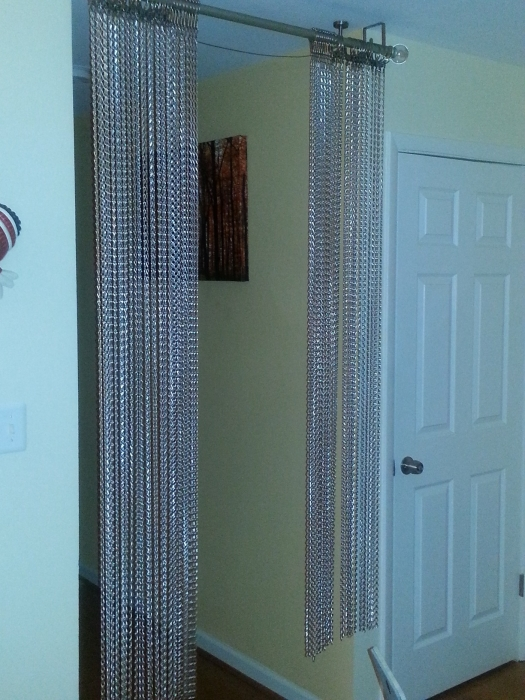 Silver Metal Chain Beaded Curtains Shopwildthings Com