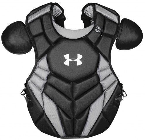 "Under Armour Pro4 NOCSAE Certified Youth 15.5"" Baseball Catcher's Chest Protector"