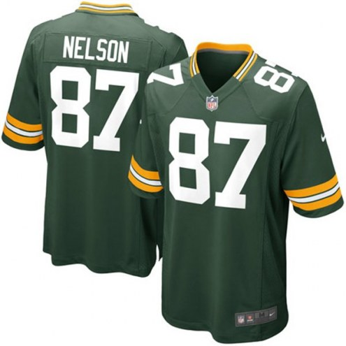Nike NFL Green Bay Packers Jordy Nelson Youth Game Football Jersey