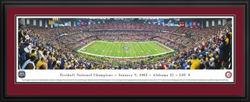Alabama Crimson Tide BCS Champs 2011 Panorama