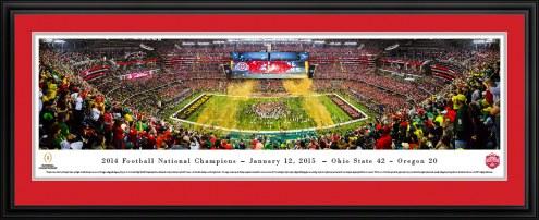 Ohio State Buckeyes CFP Champions Panorama