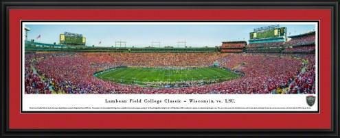 Wisconsin Badgers Lambeau Field College Classic Panorama