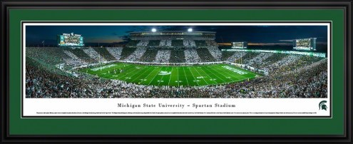 Michigan State Spartans 50 Yard Line Stadium Panorama