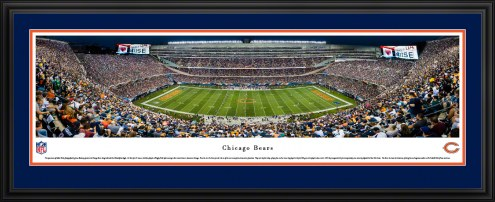 Chicago Bears 50 Yard Line Stadium Panorama