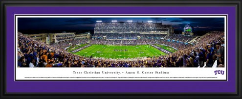 Texas Christian Horned Frogs Night Football Panorama