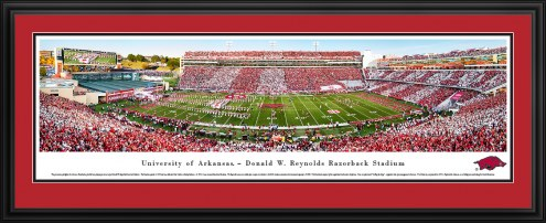 Arkansas Razorbacks 50 Yard Line Stadium Panorama