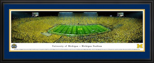 Michigan Wolverines Under the Lights Panorama