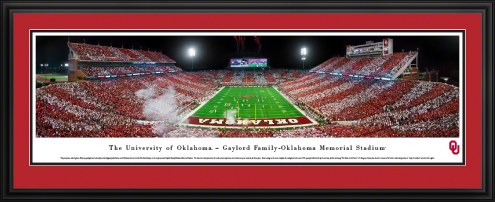 Oklahoma Sooners End Zone Stadium Panorama