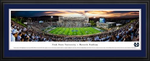 Utah State Aggies 50 Yard Line Stadium Panorama