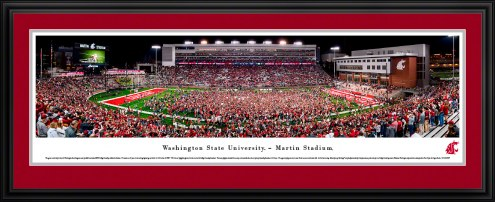 Washington State Cougars Storm the Field Football Panorama