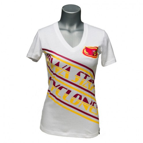 Iowa State Cyclones Women's Earned Stripes V-Neck