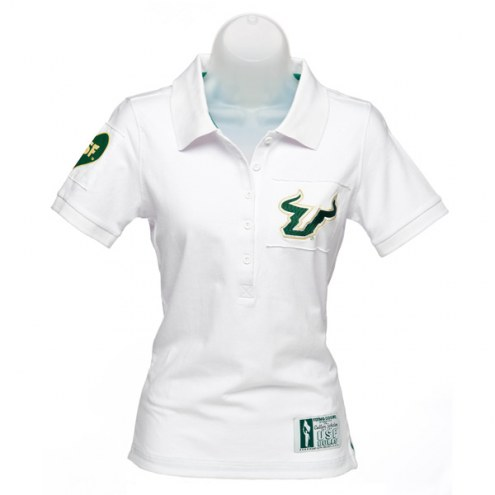 South Florida Bulls Women's White Collar Scholar Polo
