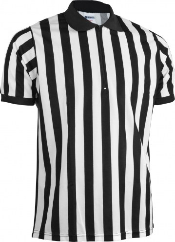 Sports Unlimited Zip Neck Adult Referee Jersey