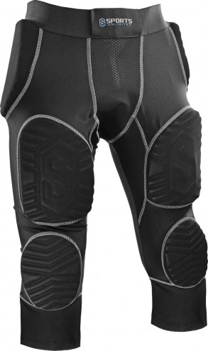 Sports Unlimited Adult 7 Pad Integrated Football Girdle - Hard Thigh Pads W/ Mesh Leg Extension