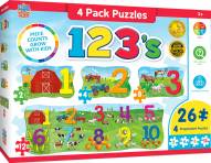 123 on the Farm 4 Pack Educational Puzzle