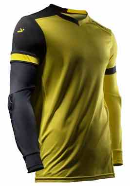Storelli ExoShield Gladiator Youth Soccer Goalie Jersey. Selected Color   Yellow Black 7532582cc