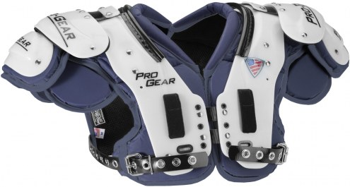 Pro Gear PL10 Adult Football Shoulder Pads with Attached Back Plate - QB / WR / DB