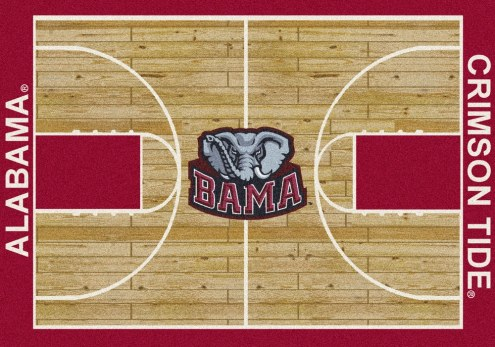 Alabama Crimson Tide College Home Court Area Rug