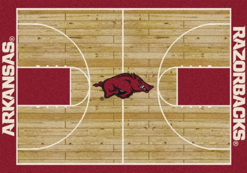 Arkansas Razorbacks College Home Court Area Rug