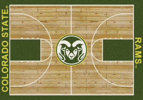 Colorado State Rams College Home Court Area Rug