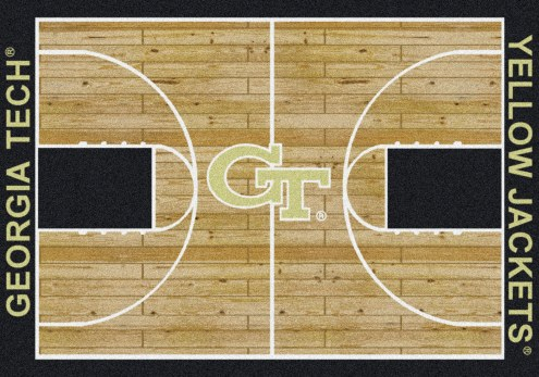 Georgia Tech Yellow Jackets College Home Court Area Rug