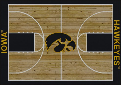 Iowa Hawkeyes College Home Court Area Rug