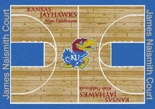 Kansas Jayhawks College Home Court Area Rug
