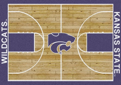 Kansas State Wildcats College Home Court Area Rug