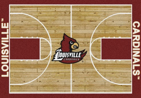 Louisville Cardinals College Home Court Area Rug