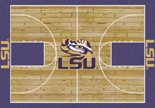 LSU Tigers College Home Court Area Rug