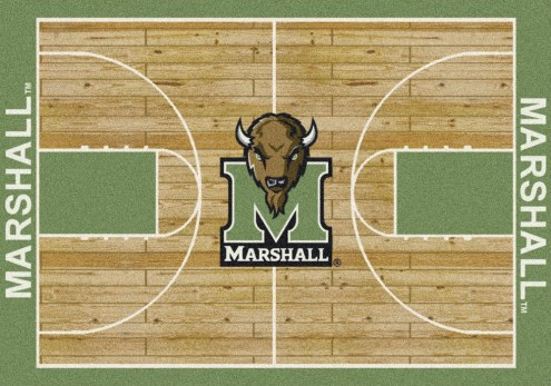 Marshall Thundering Herd College Home Court Area Rug