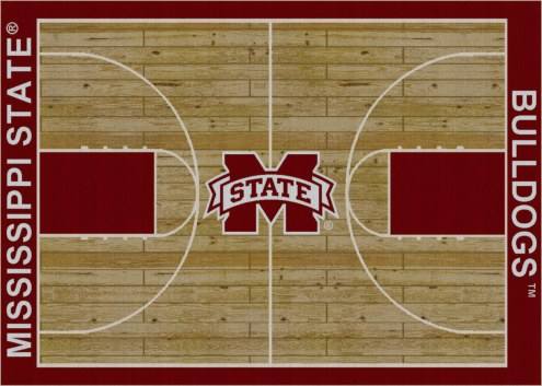 Mississippi State Bulldogs College Home Court Area Rug