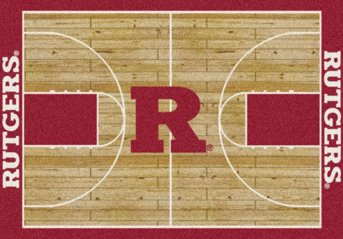 Rutgers Scarlet Knights College Home Court Area Rug