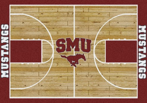Southern Methodist Mustangs College Home Court Area Rug
